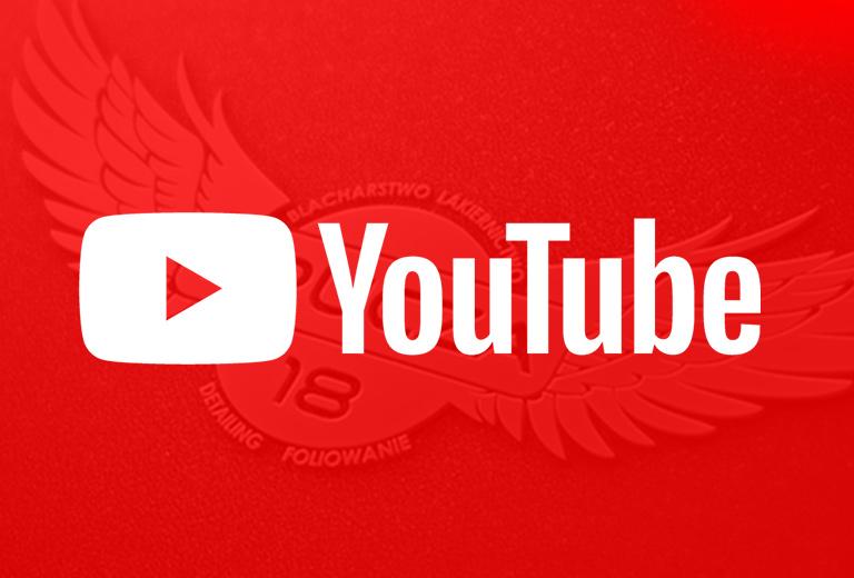 Logo YouTube link przekierowania