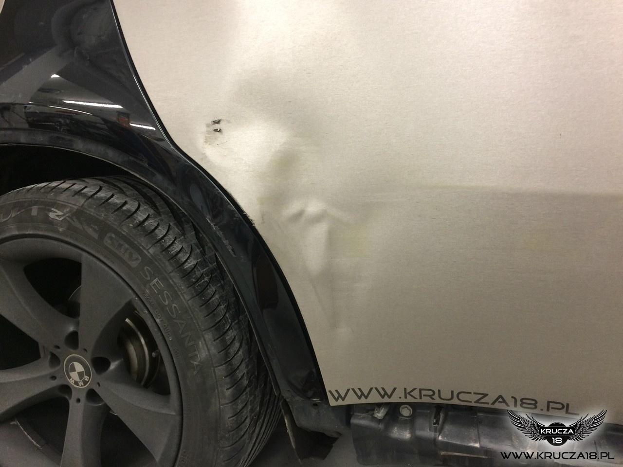 BMW X6 : naprawa blacharsko-lakiernicza : szczotkowane aluminium : Krucza18 : Osielsko/k.Bydgoszczy
