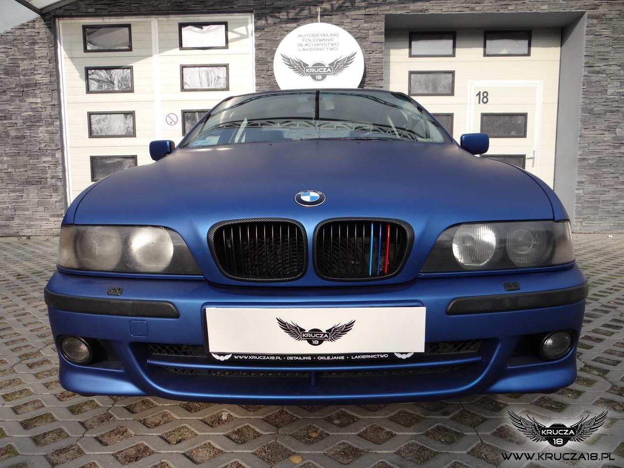 BMW 5 e39 : zmiana koloru auta folią : Deep Ocean: oklejanie : Krucza18 : Osielsko/k.Bydgoszczy