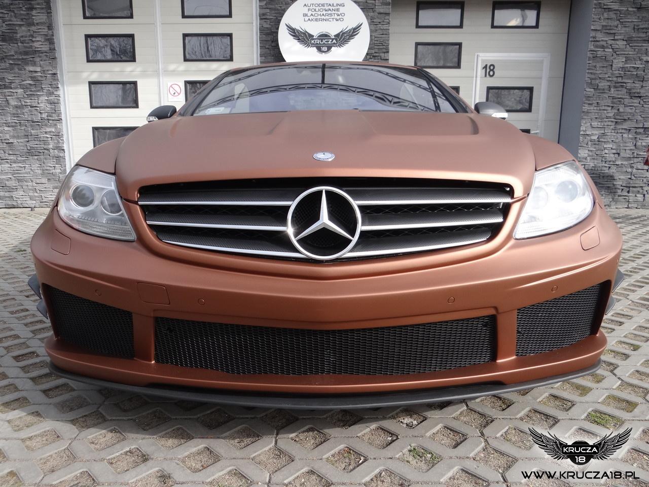 MERCEDES CL : zmiana koloru auta folią : aztec bronze : Krucza18 : Osielsko/k.Bydgoszczy