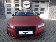 AUDI A7 : zmiana koloru auta folia : oklejanie : red aluminium : Krucza18 : Osielsko/k.Bydgoszczy