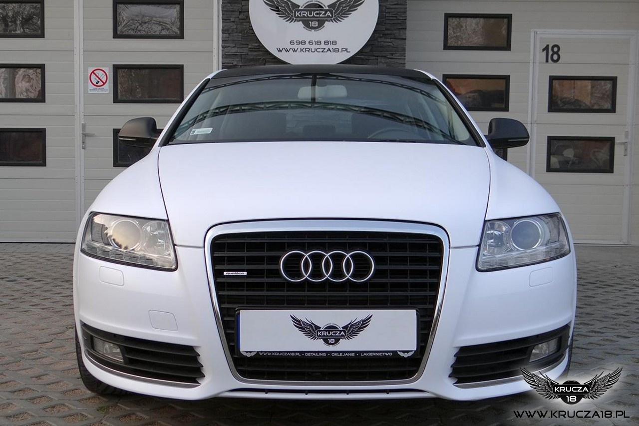 Audi A6 biały mat + carbon