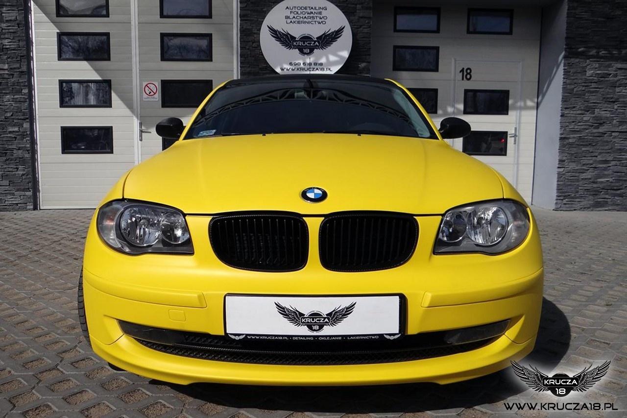 BMW 1 żółty mat + carbon