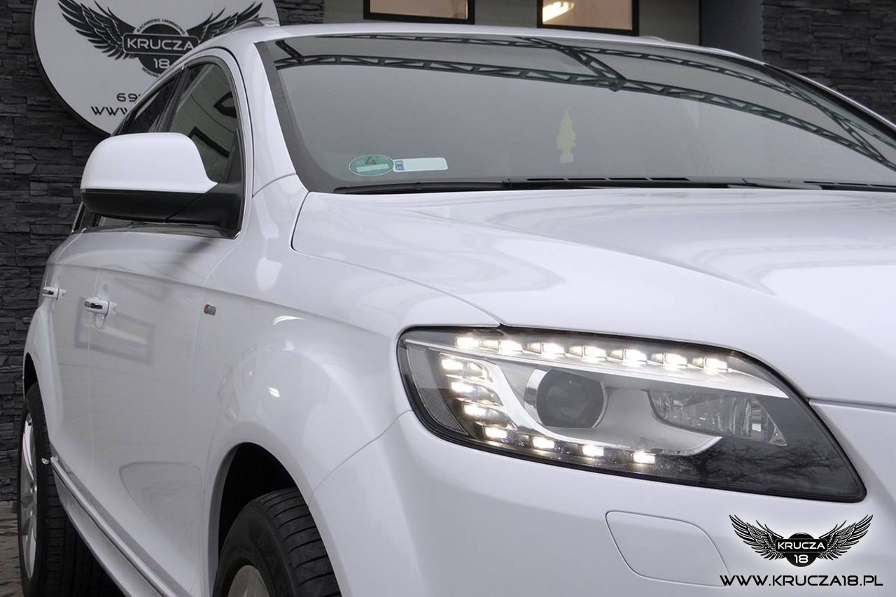 Audi Q7 zmiana koloru na biały połysk