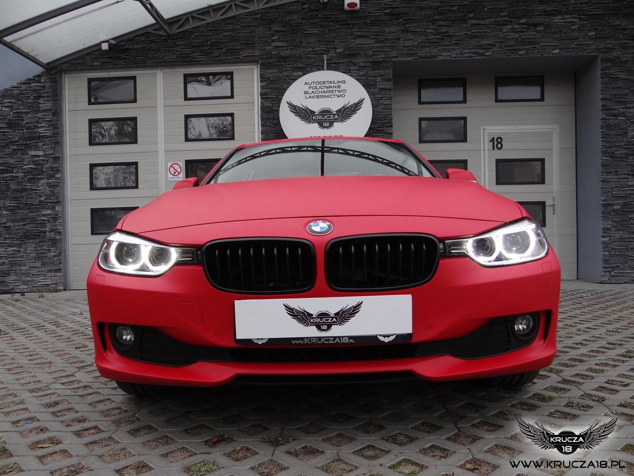 BMW 3 : zmiana koloru auta folią : F1 Racing : oklejanie : Krucza18 : Osielsko/k.Bydgoszczy