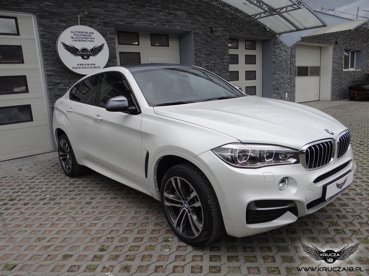 BMW X6 M : zabezpieczenie lakieru bezbarwną folią Premium Shield : Gunsteel Pearl : Krucza18 : Osielsko/k.Bydgoszczy