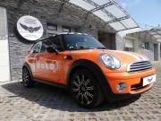 MINI COOPER : zmiana koloru auta folia : reklama : oklejanie : orange : Krucza18 : Osielsko/k.Bydgoszczy