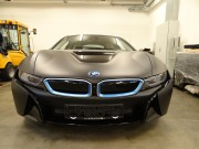 BMW i8 : zmiana koloru auta folia : oklejanie : czarny mat : Krucza18 : Osielsko/k.Bydgoszczy