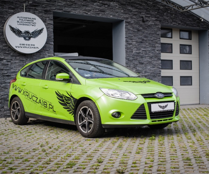Auta zastępcze - Ford Focus - zielony - ujęcie pasażer