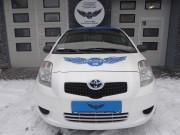 TOYOTA YARIS : auto zastępcze : zmiana koloru auta folią : satynowa perła : blue aluminium : Krucza18 : Bydgoszcz : Osielsko