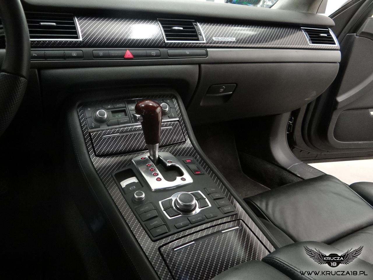 AUDI A8 : oklejanie elementów : listwy w carbon : zmiana koloru auta : Krucza18 : Osielsko/k.Bydgoszcy