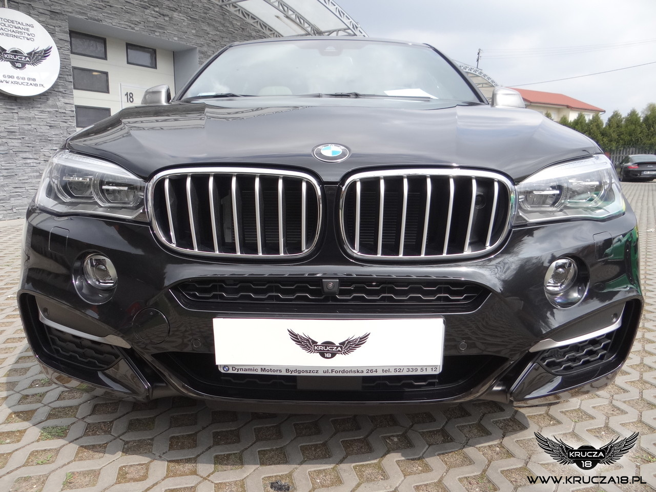 BMW X6 M : zabezpieczenie lakieru bezbarwną folią Premium Shield : Krucza18 : Osielsko/k.Bydgoszczy