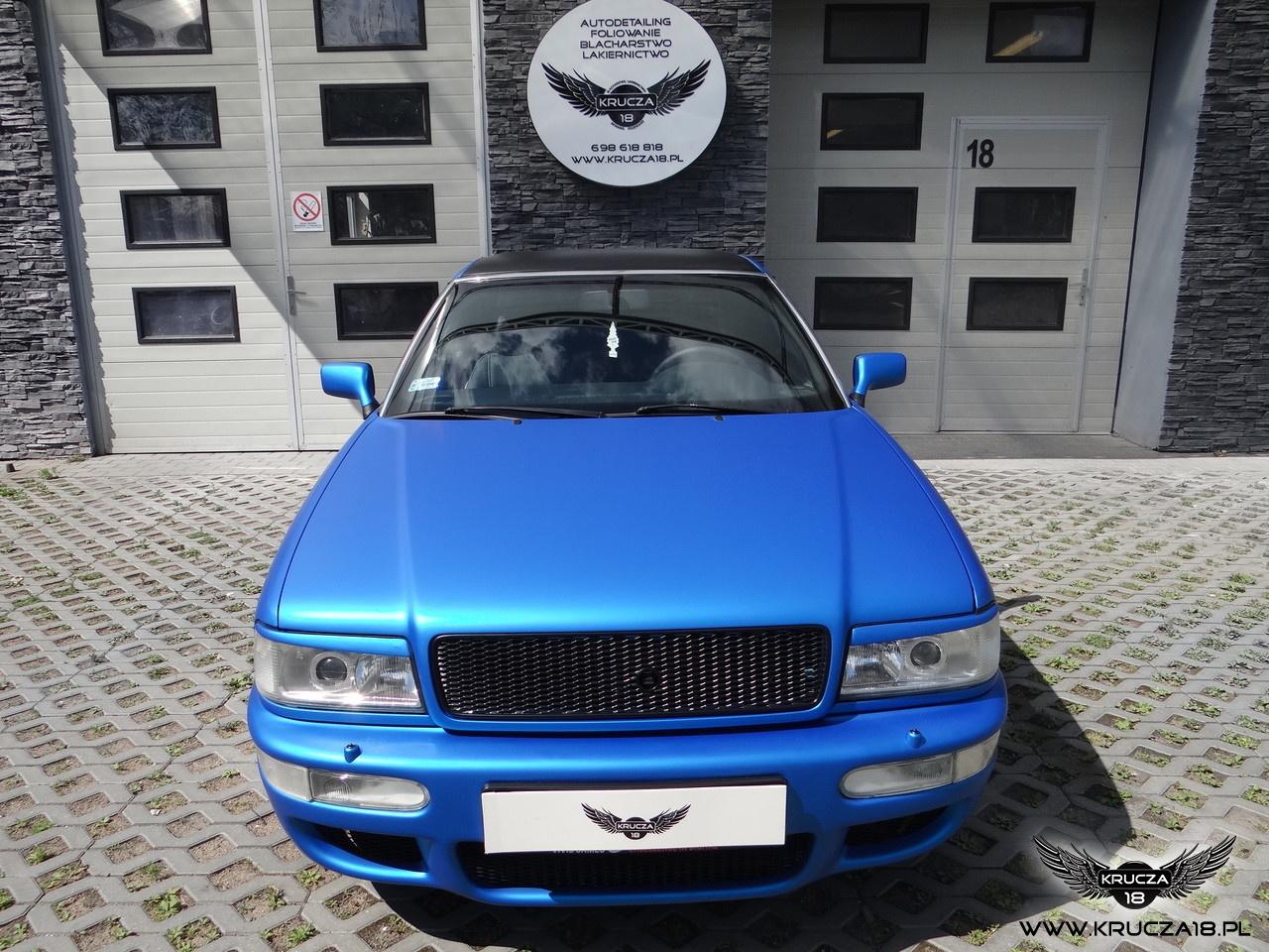 AUDI : zmiana koloru auta folią : blue aluminium : oklejanie : Krucza18 : Bydgoszcz : Osielsko
