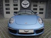 PORSCHE 911 CARRERA 4S : zmiana koloru auta folią : oklejanie : metal frost blue : Krucza18 : Osielsko/k.Bydgoszczy
