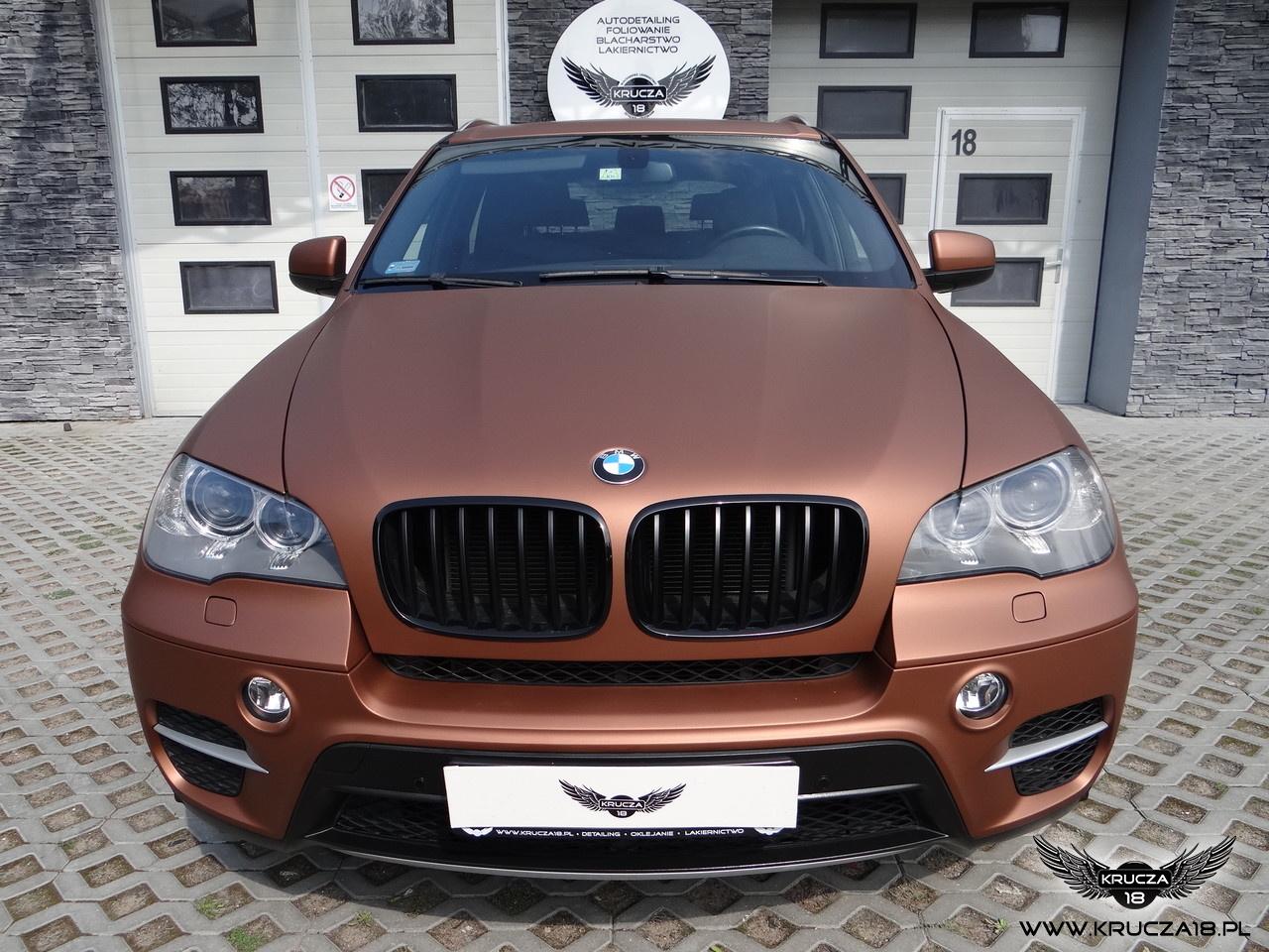 BMW x5 : zmiana koloru auta folią : oklejanie : Aztec Bronze : Krucza18 : Bydgoszcz : Osielsko
