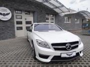 MERCEDES CL 63 AMG : zmiana koloru auta folią : biała perła : oklejanie : Krucza18 : Osielsko/k.Bydgoszczy