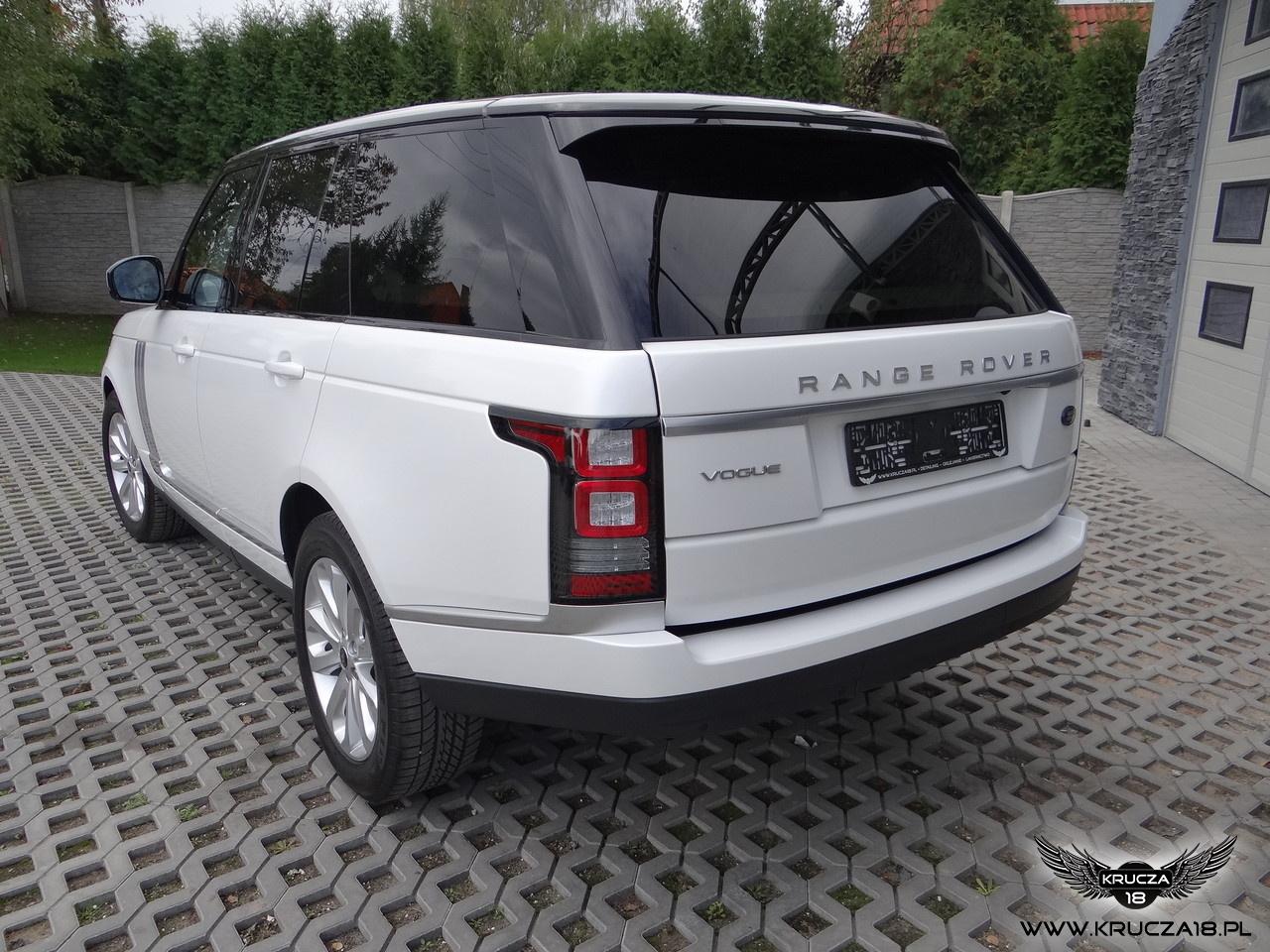 RANGE ROVER : zmiana koloru auta folia : biała perła : oklejanie : Krucza18 : Osielsko/k.Bydgoszczy