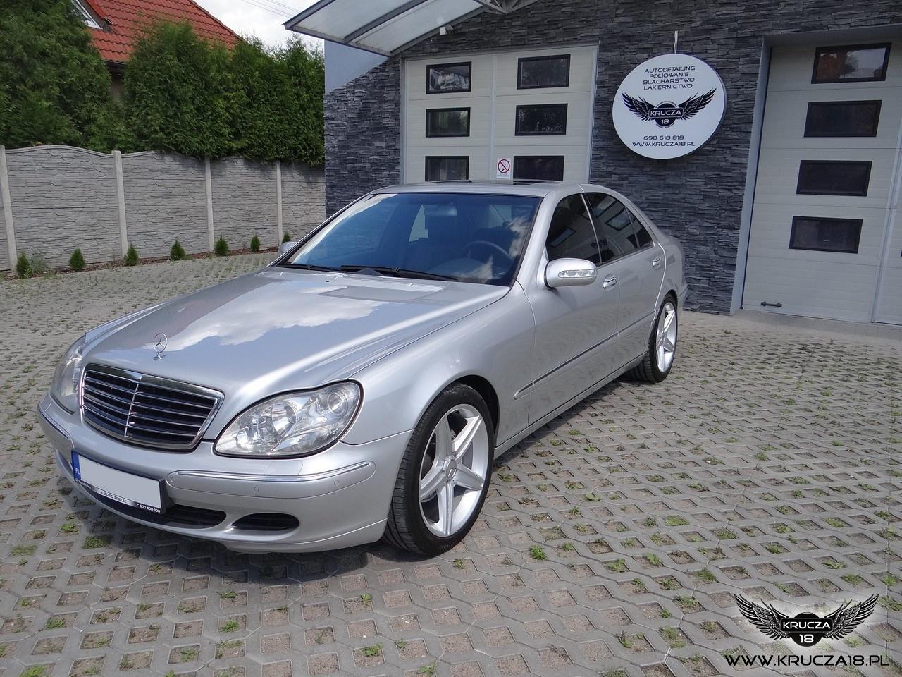 Mercedes S - korekta i zabezpieczenie lakieru