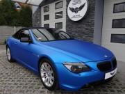 BMW cabrio blue aluminium