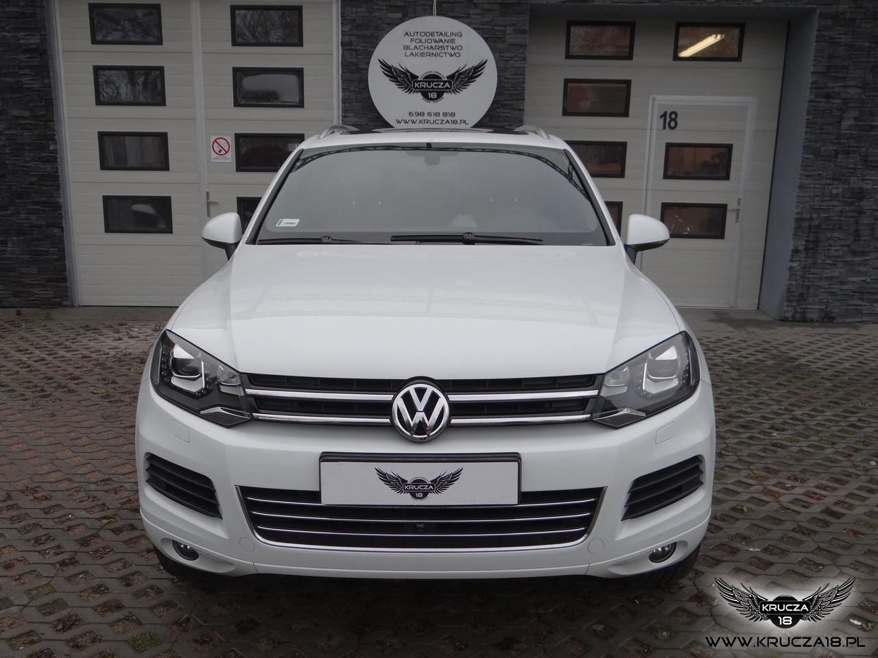 VW Touareg-Ceramic PRO 9H +zabezpieczenie przodu pojazdu folią bezbarwną STONE PROTECT