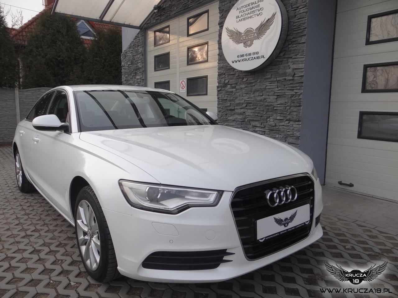 Audi A6 - Zmiana koloru folią / Biała Perła
