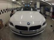 BMW 5 : zmiana koloru auta folią : biały połysk : oklejanie : Krucza18 : Osielsko/k.Bydgoszczy