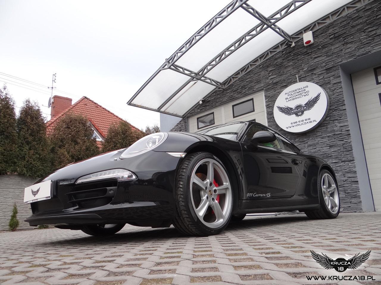 Porsche 911 Carrera 4S : zabezpieczenie bezbarwna folią Premium Shield : autodetailing : korekta lakieru : Krucza18 : Osielsko/k.Bydgoszczy