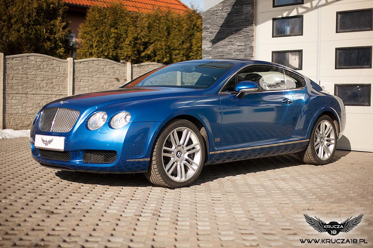 BENTLEY CONTINENTAL GT : zmiana koloru auta folią : Daytona blue : oklejanie : Krucza18 : Osielsko/k.Bydgoszczy