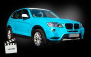 BMW x3 : Zmiana koloru auta : matt sky blue : Krucza18 : Osielsko/k.Bydgoszczy (video)