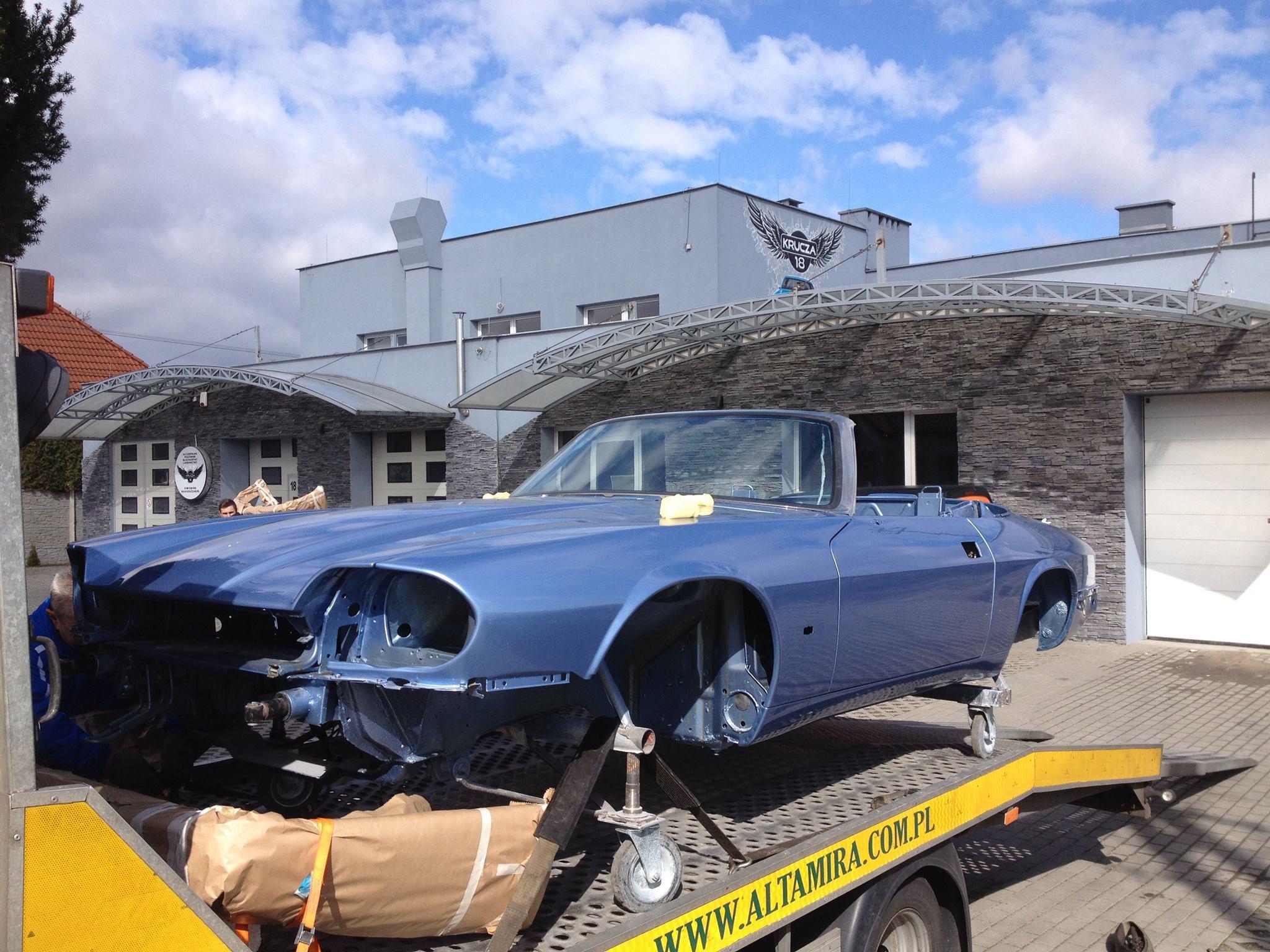 Lakierowanie Jaguara Cabrio www.krucza18.pl Osielsko/Bydgoszcz